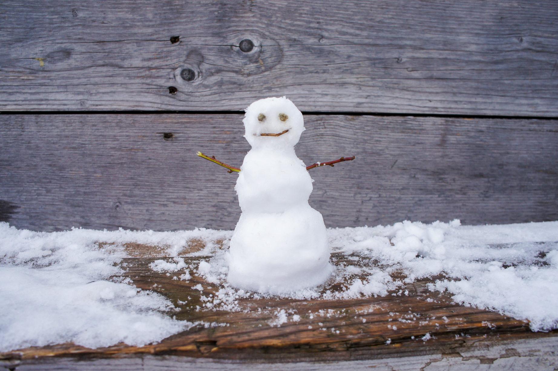 Alles in allem eine gelungene erste Winter-Tour. Sogar ein Schneemann war dabei ;-)