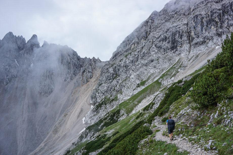 Der Wilde Bande Steig bis zum Stempeljoch hinauf
