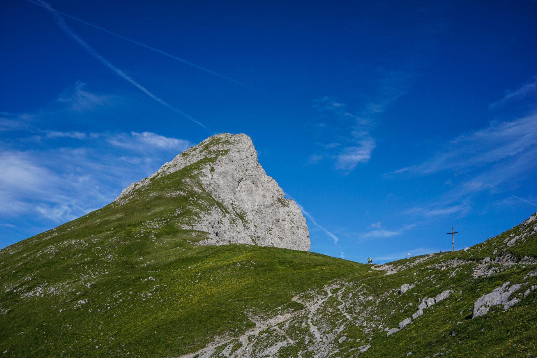 Am Steinjöchl kann man noch schnell auf den Falschkogel (2.388m) abbiegen.