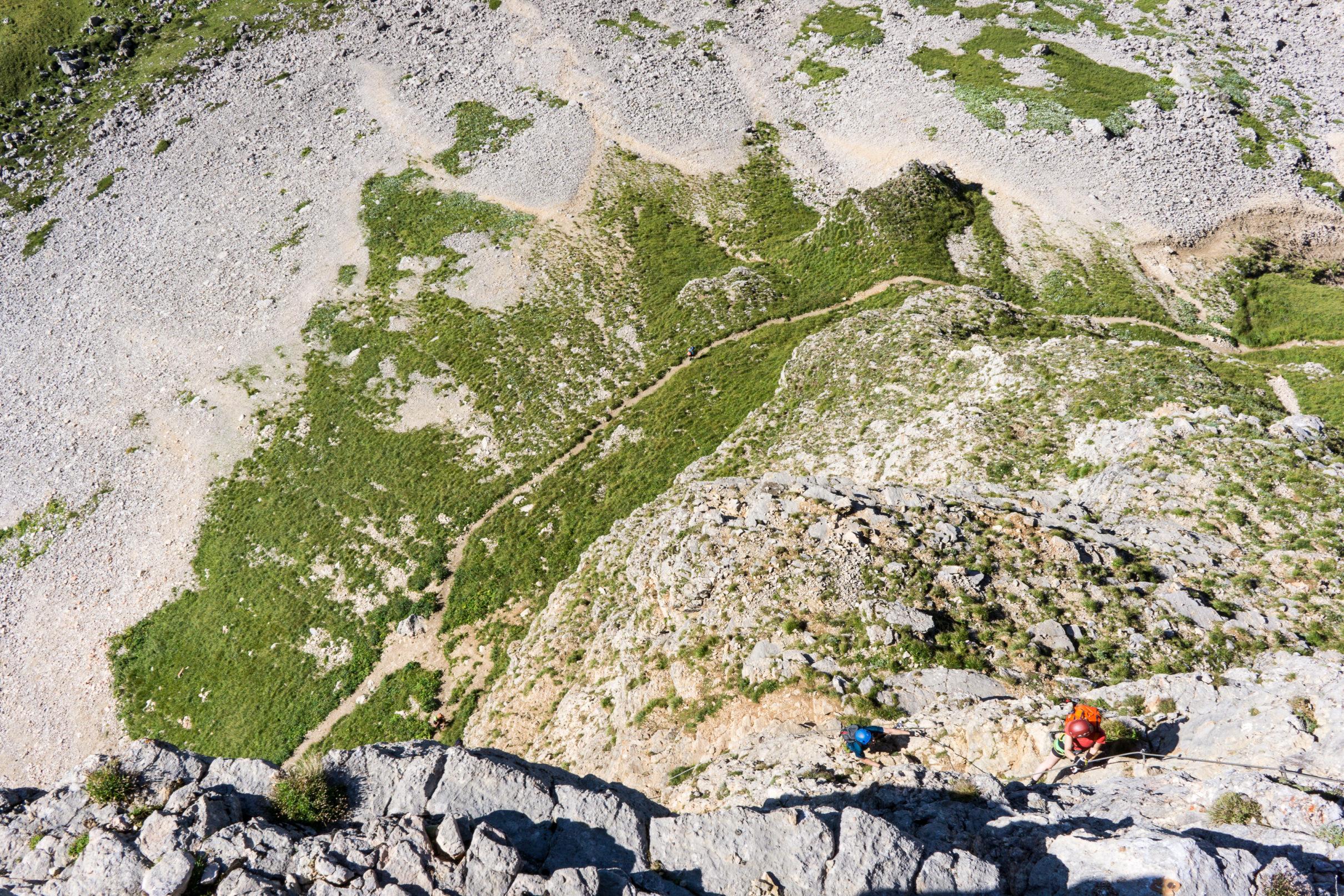 Klettersteig Niveaus : Gipfel klettersteig am achensee