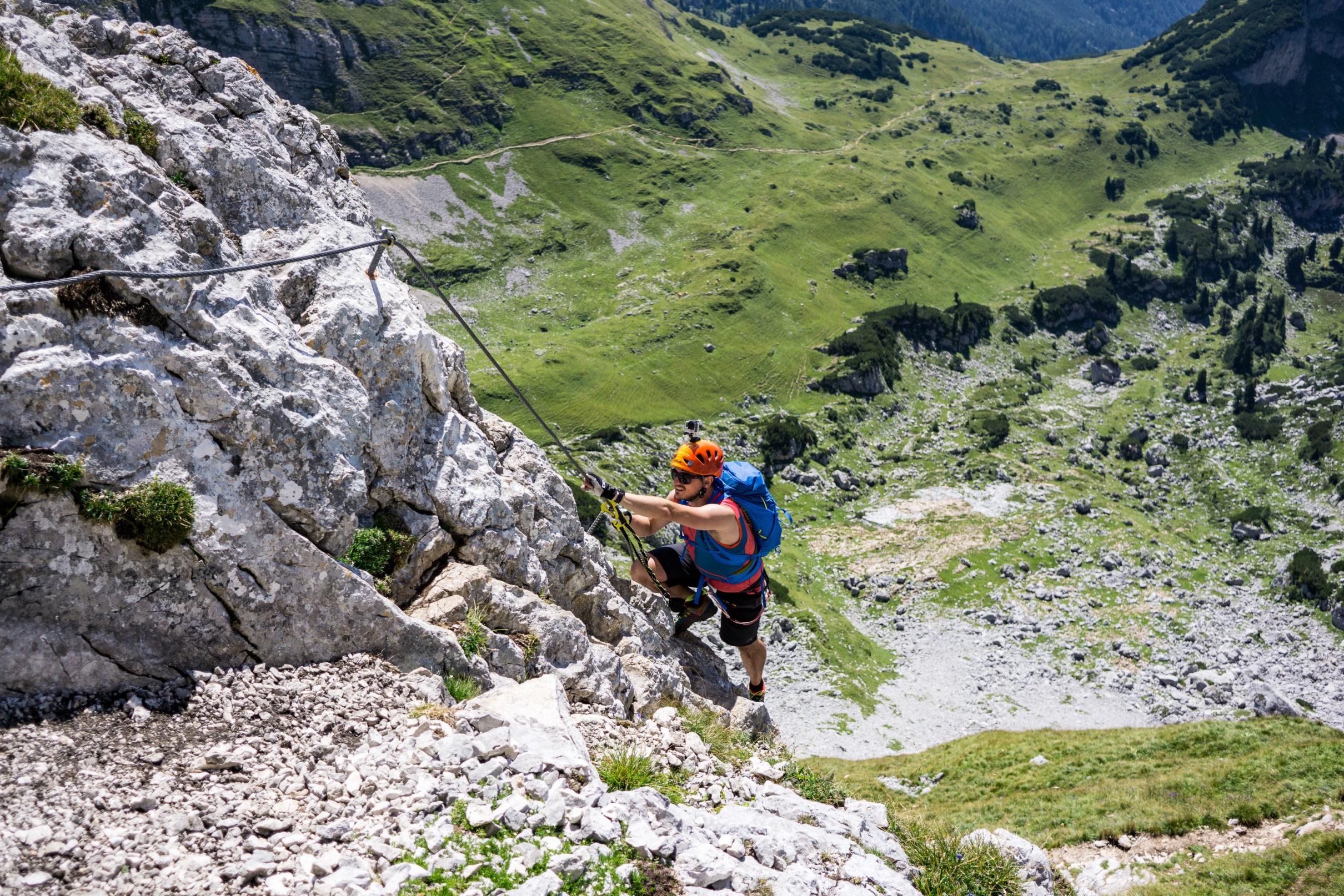 Klettersteig Achensee : Gipfel klettersteig am achensee